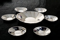 WMF-Art Deco silver-plated set of bowls