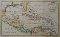 America, Central America, Gulf of Mexico, Antilles; A.Bell - West Indies - ca. 1780