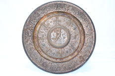 """Metal wall plate """"women liberty"""" French - late 19th century"""