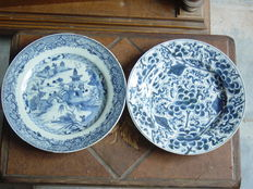 Two export porcelain deep plates - China - 18th century