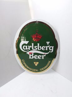 Carlsberg - enamel sign from Denmark - 1960