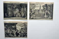 Three engravings of Melchior Küsel (1626 - 1684) - Icones Biblicae' - 1679
