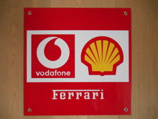 Metal sign for F1 Ferrari from 2002 - Franchorchamps