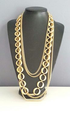 Crown Trifari – 5 row necklace - 1970s