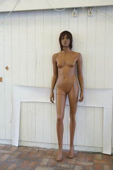 Mannequin woman standing - period late 20th/early 21st century.