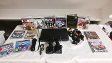 Complete Playstation 3 Super Slim - 100 GB  incl . 2x controllers, move, dockingstation, 12 games.
