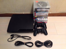 Sony Playstation 3 console 320GB with all cables, 2 controllers and 16 topgames