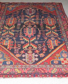 Persian carpet, Hamadan/Iran - previous century, around 1920-1940 – 195 x 135 cm - no reserve, bidding starts at €1