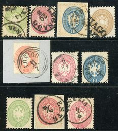 Lombardy-Veneto – Lot of 10 stamps.