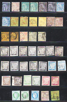French Colonies 1881/1905 - Selection between Yvert no. 49 and 59