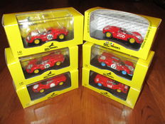 Art Model - Scale 1/43 - Lot with 6 models: 6 x Ferrari Dino 206S Sport various races 1966/1967/1968