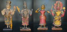 Polychrome altar figurines - Kerala, India - Late 19th century
