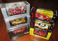 Bang Model / Herpa / Detail Cars Lot - Scale 1/43 - Lot with 6 model cars: 6 x  Ferrari 348GT Competizione & 348 Challenge