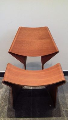 Grete Jalk ( Lange production ) – Laminated Chair