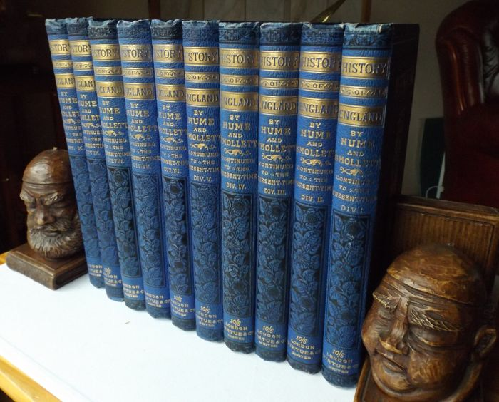 Hume, Smollet - History of England by Hume and Smollett - 10 volumes - ca.1877