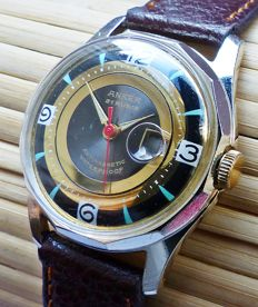 ANKER 21 rubies with date -- Men's wristwatch from the 50s - 60s