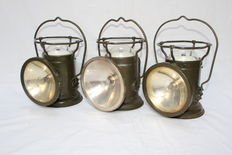 3 vintage WWII us army signalL corps lantern-ca.1935-1940