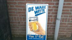 Hoegaarden metal advertising sign La vraie Blanche - 20th century