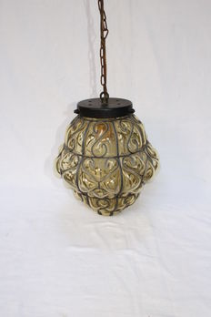 Hand-blown  Venetian hanging lamp-Italy-first half 20th century