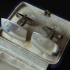 Silver cufflinks from Israel with David star