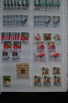 Belgium - Selection of stamps, sheets and album sheets and album pages.