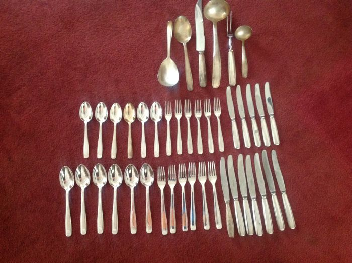 Georg Nilson - silver plated art deco cutlery - Gero- 41 pieces- 1927