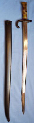 French Model 1866 Yataghan Bayonet and Scabbard - Matching Numbers