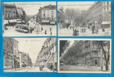 France - lot of 284 old postcards of France 70% animated, all cards have been scanned