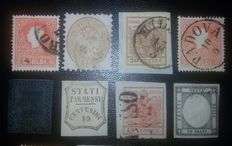 Historic States of Italy - Small collection of stamps