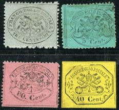 Papal States - Lot of 4 stamps