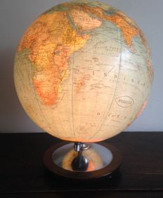 Rare antique glass globe with lighting