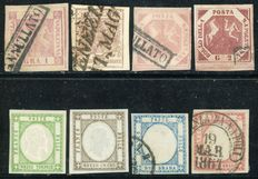 Old Italian States - Lot of 8 stamps.