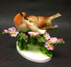 Herend porcelain - lovebirds on blossom branches