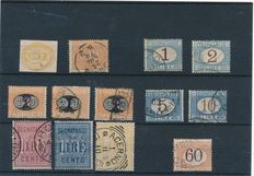 Italy 1863/1924 – Selection of stamps on 2 stock cards