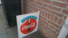 Double sided Coca Cola advertising sign - 20th century - metal sign
