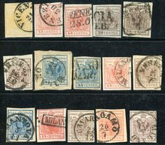 Lombardy Veneto – Lot of 15 stamps