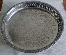 Silver tray from Morroco: signed by silversmith