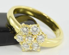 0.84 ct diamond ring in 18 kt gold * no reserve *