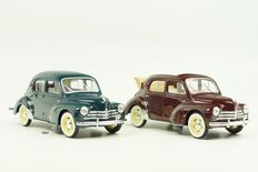 Solido - Scale 1/18 - Lot with 2x Renault 4