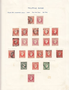 Philippines 1854 / 1898. Stamps collection.