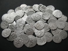 Russia/Golden Horde/Crimean Khanate - 51 Various Silver Coins (Dang, Beshlyk, Aqche, Aspr) of 16th-17th century