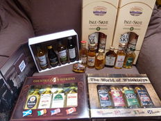 Collection of 19 Miniatures & 2 bottles 8 years old Isle of Skye 0,7l - 40%
