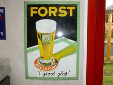 Advertising sign for brewery Wielemans, Forst, 't groot glas - around 1950.