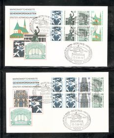 Berlin 1974/89 - se-tenant - FDC with complete SWK, among others
