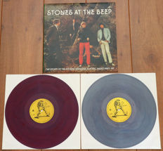 The Rolling Stones- Stones At The Beeb 1963- 65/ Very rare Stones unofficials from 1986, 1st issue on Grey/ Light-Blue & Purple marbled wax