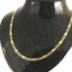 14 carat modern figaro men's neckleace/ chain 52 cm long