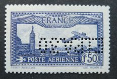 France 1930 - Airmail 1f50 blue signed Calves with certificate - Yvert No. 6c EIPA30 International Exhibition of the Air Mail