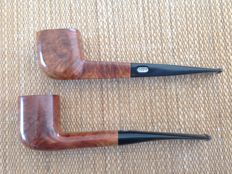 """Lot of 2 very nice pipes, Butz Choquin """" Grand Luxe Extra """" plus Ropp """" Triumph """", great !!"""