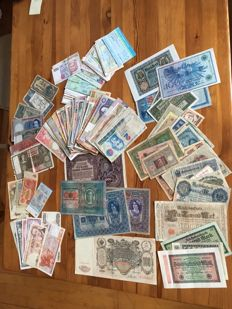 World - Lot of 188 banknotes