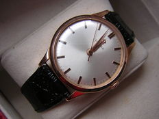 Omega 18 kt solid rose gold wristwatch circa 1950